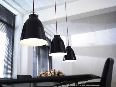 suspension caravaggio small 16 5 cm noir brillant. Black Bedroom Furniture Sets. Home Design Ideas