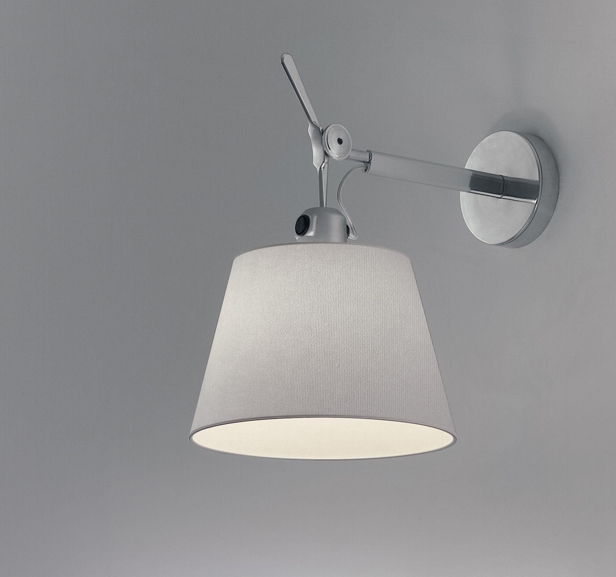 applique tolomeo 32 cm satin gris artemide. Black Bedroom Furniture Sets. Home Design Ideas