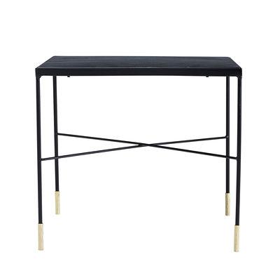 Tavolino basso OX / 50 x 50 x H 45 cm - House Doctor - Nero / Ottone - Metallo