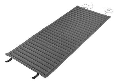 Cuscino - integrale / Per poltrona bassa Palissade con schienale basso di Hay - Grigio antracite - Tessuto