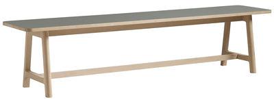 Banc Frame L 250 cm Bois Hay gris,bois naturel en bois