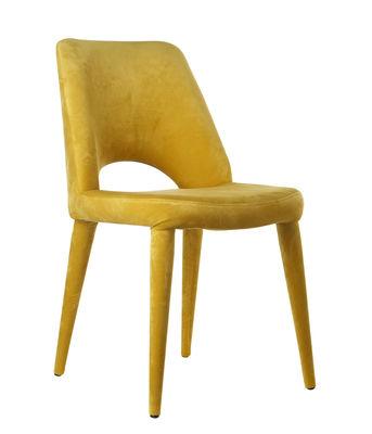 Mobilier - Chaises, fauteuils de salle à manger - Chaise rembourrée Holy / Velours - Pols Potten - Jaune - Mousse, Velours