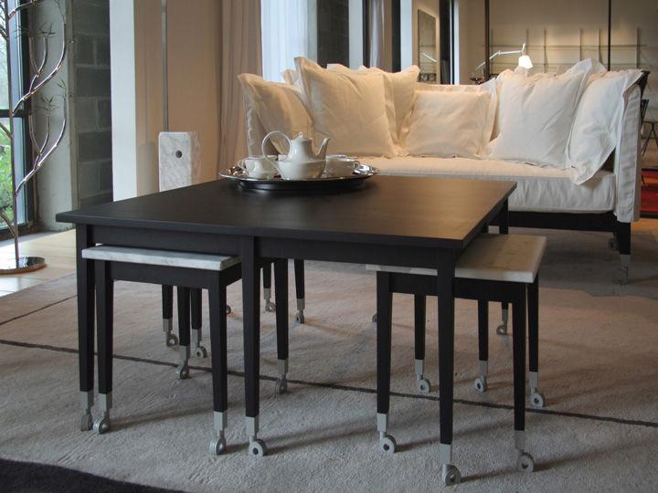 canap droit neoz avec assise profonde l 206 cm eb ne. Black Bedroom Furniture Sets. Home Design Ideas