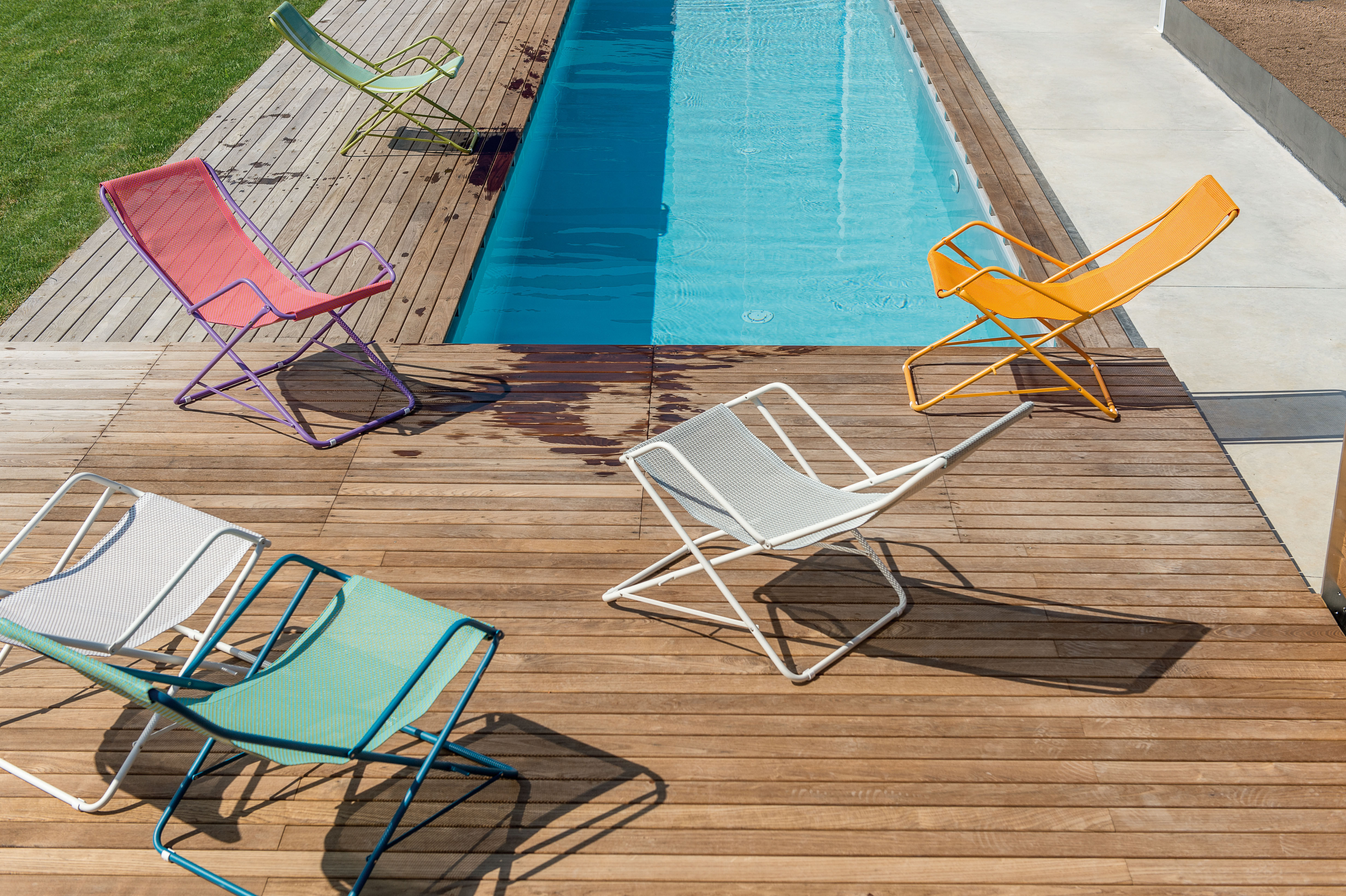 Bahama Reclining chair - Folding Turquoise / Green structure by Emu ...