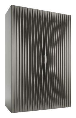 Image of Guardaroba Blend - 2 porte di Horm - Argento - Legno