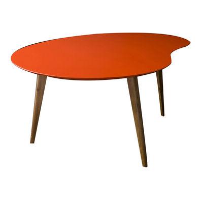 Table basse Lalinde large haricot / L 83cm / Pieds bois - Sentou Edition rouge,chêne en bois