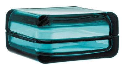 Boîte Vitriini / 11 x 11 cm - Iittala bleu outremer en verre