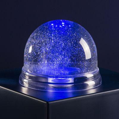 Déco - Pour les enfants - Boule à neige  lumineuse Géante LED / Ø 22 cm - Koziol - Transparent / Neige argentée - Thermoplastique