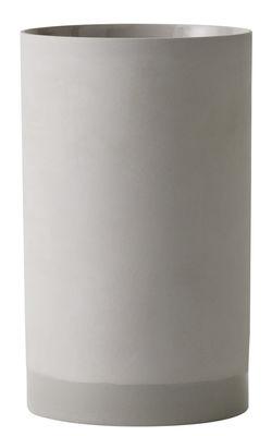 Foto Vaso Cylindrical / Argilla - H 20 cm - Menu - Grigio chiaro - Ceramica
