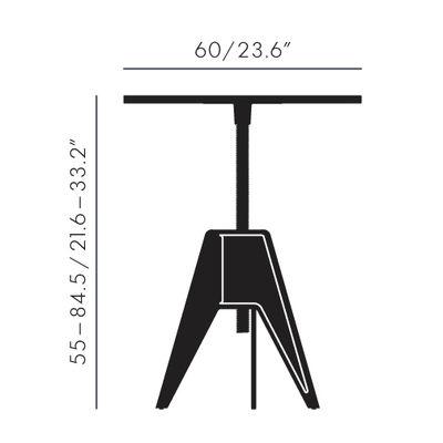 table hauteur r glable screw 60 cm 60 cm noir blanc tom dixon. Black Bedroom Furniture Sets. Home Design Ideas