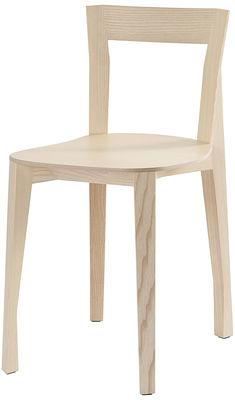 Chaise Quadrille / Bois - Moustache bois naturel en bois