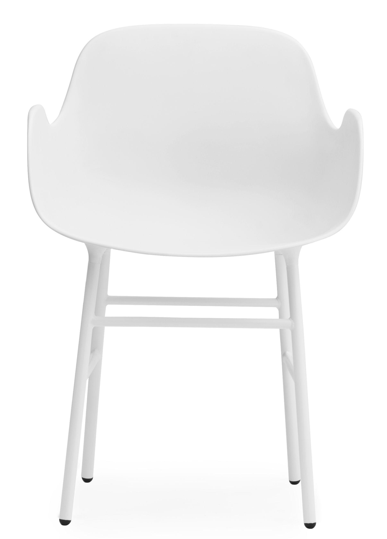 fauteuil form pied m tal blanc normann copenhagen. Black Bedroom Furniture Sets. Home Design Ideas
