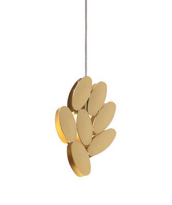 Image of Sospensione Foliae - / 7 foglie - oro 24 carati di Opinion Ciatti - Oro - Metallo