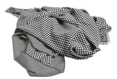Plaid Checked Out / 190 x 130 cm - Lana - Hay noir en tissu
