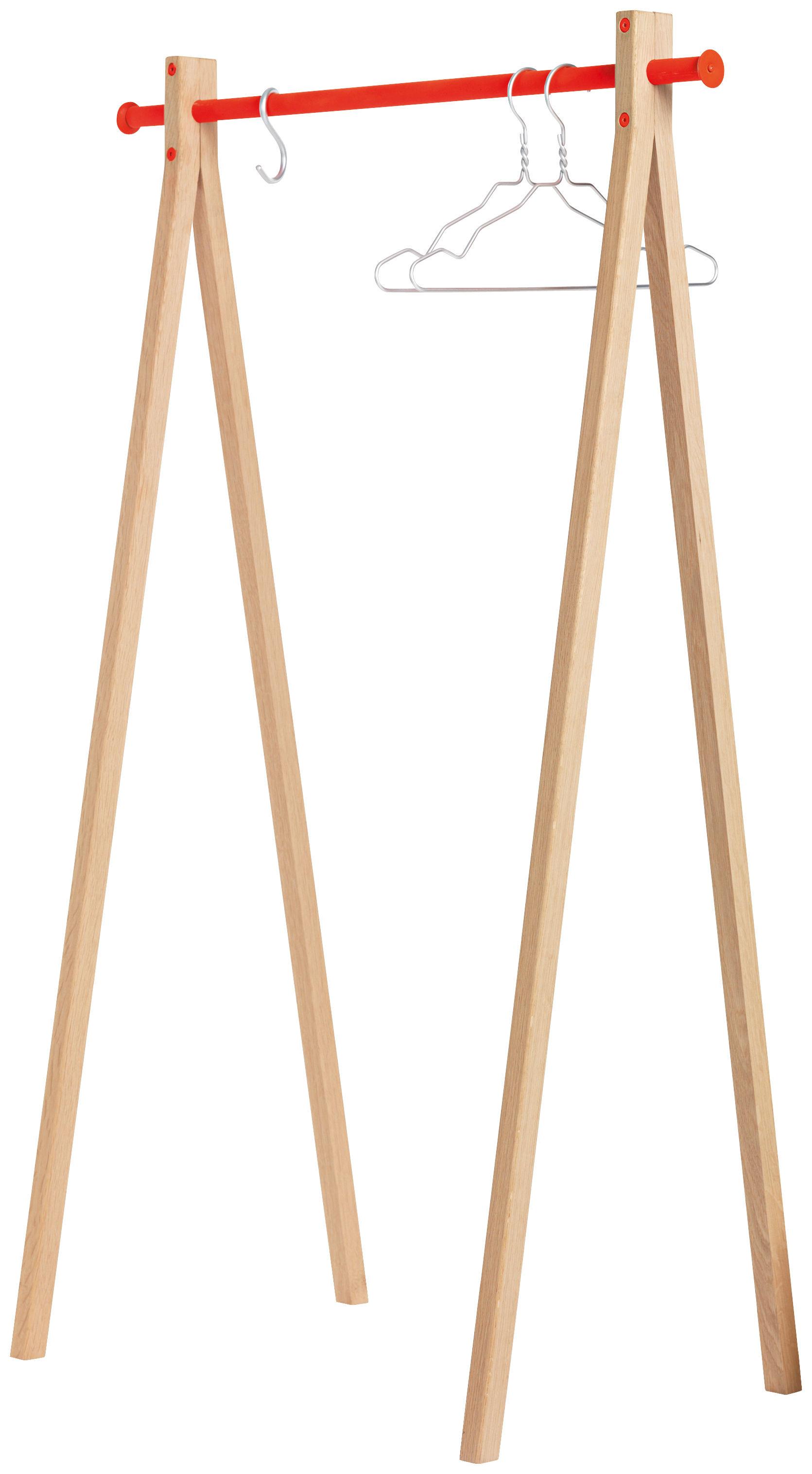 Dress-up Kleiderständer - / L 120 cm Holz natur / Kleiderstange ...