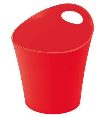 Pot Pottichelli L / Cache-pot - Ø 21 x H 23 cm - Koziol fraise en matière plastique