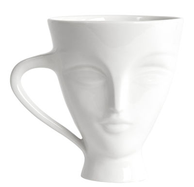 Tasse Giuliette - Jonathan Adler blanc en céramique