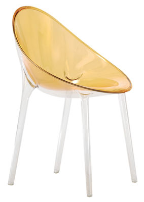 Poltrona Mr. Impossible di Kartell - Giallo trasparente - Materiale plastico
