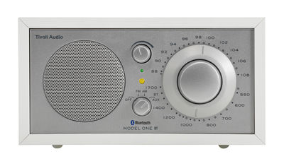 Radio Model One BT Enceinte Bluetooth Tivoli Audio blanc,argent en bois
