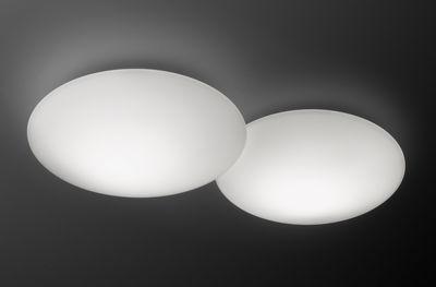 Plafonnier Puck Double - Vibia blanc en verre