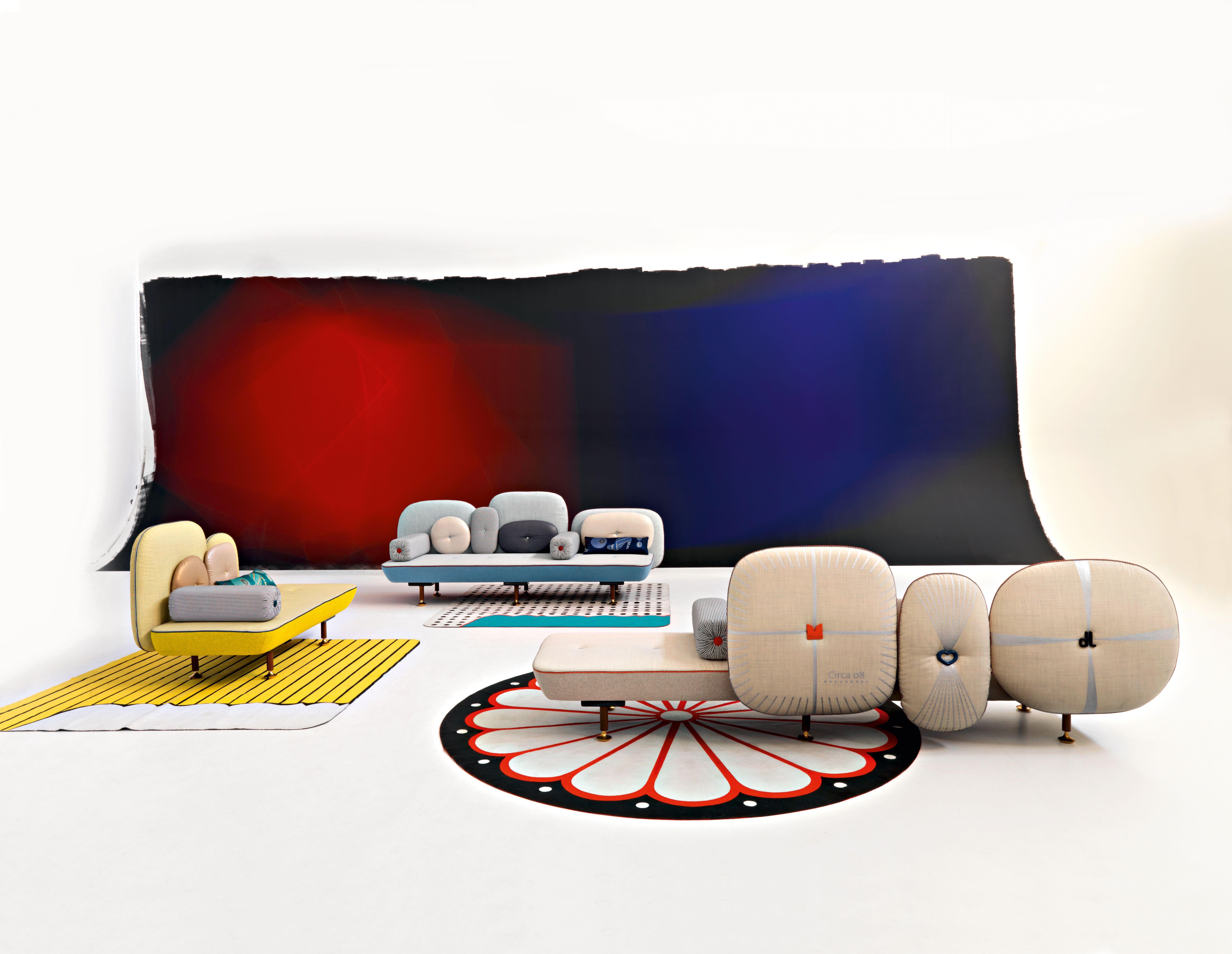 canap droit my beautiful backside l 160 cm 2 places jaune vert moroso. Black Bedroom Furniture Sets. Home Design Ideas