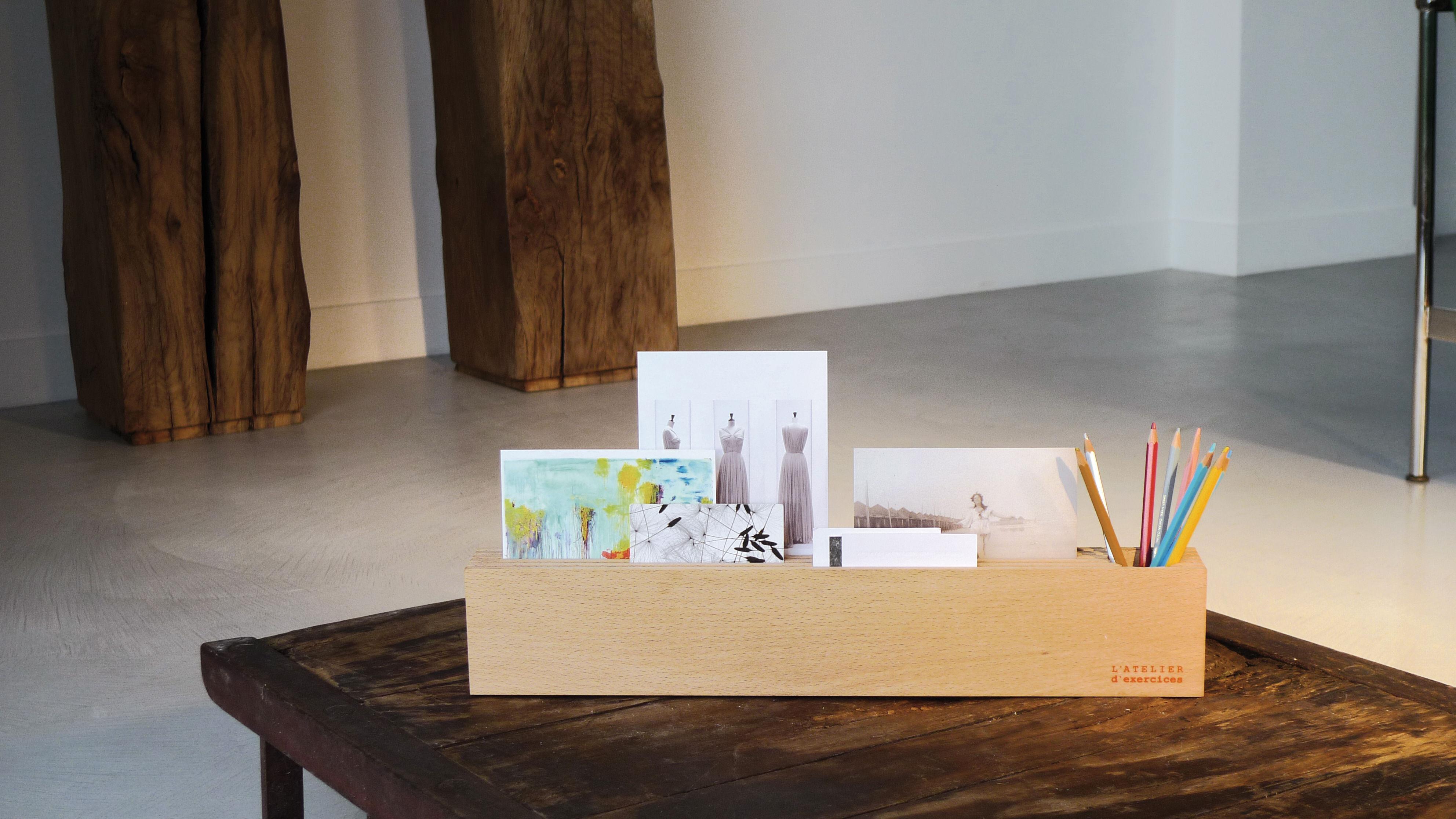 organiseur de bureau l 50 cm bois clair l 39 atelier d 39 exercices made in design. Black Bedroom Furniture Sets. Home Design Ideas