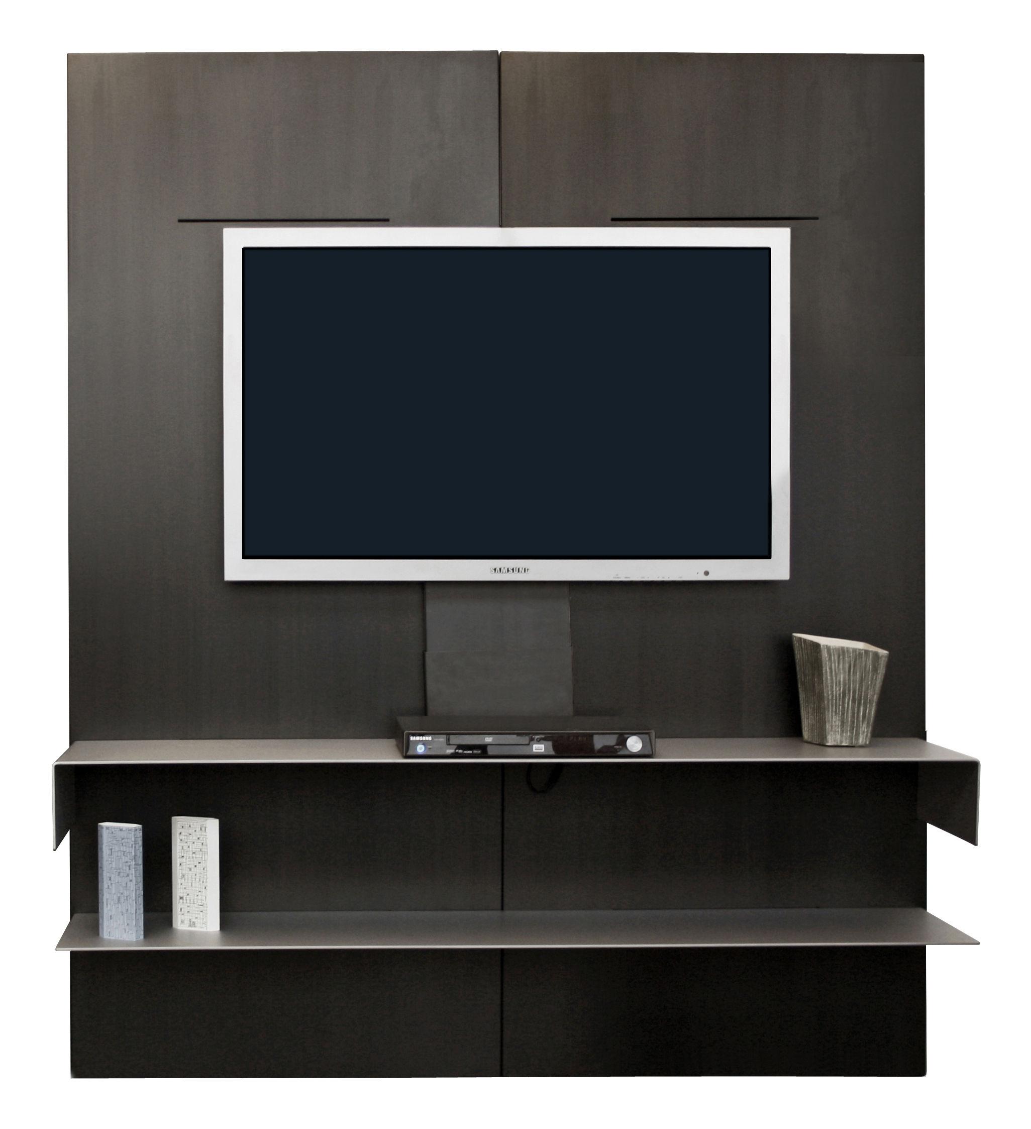 etag re iwall tv modulable acier zeus. Black Bedroom Furniture Sets. Home Design Ideas