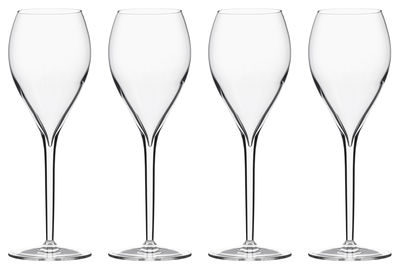 Tableware - Wine Glasses & Glassware - Privé Grand Cru Champagne glass - Set of 6  by Italesse - White wine & Champagne / 33 cl - Glass