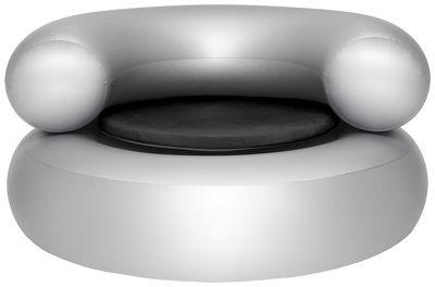 Ch-air Aufblasbarer Sessel / mit Sitzkissen - Fatboy - Silber,Dunkelgrau