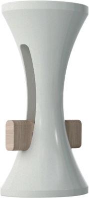 Tabouret de bar Tam Bar / H 75 cm - Plastique & bois - Stamp Edition blanc d´hiver en matière plastique