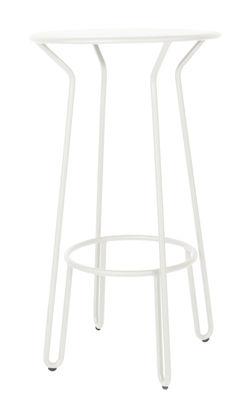 Mange debout Huggy Ø 60 x H 105 cm Aluminium Maiori blanc en métal