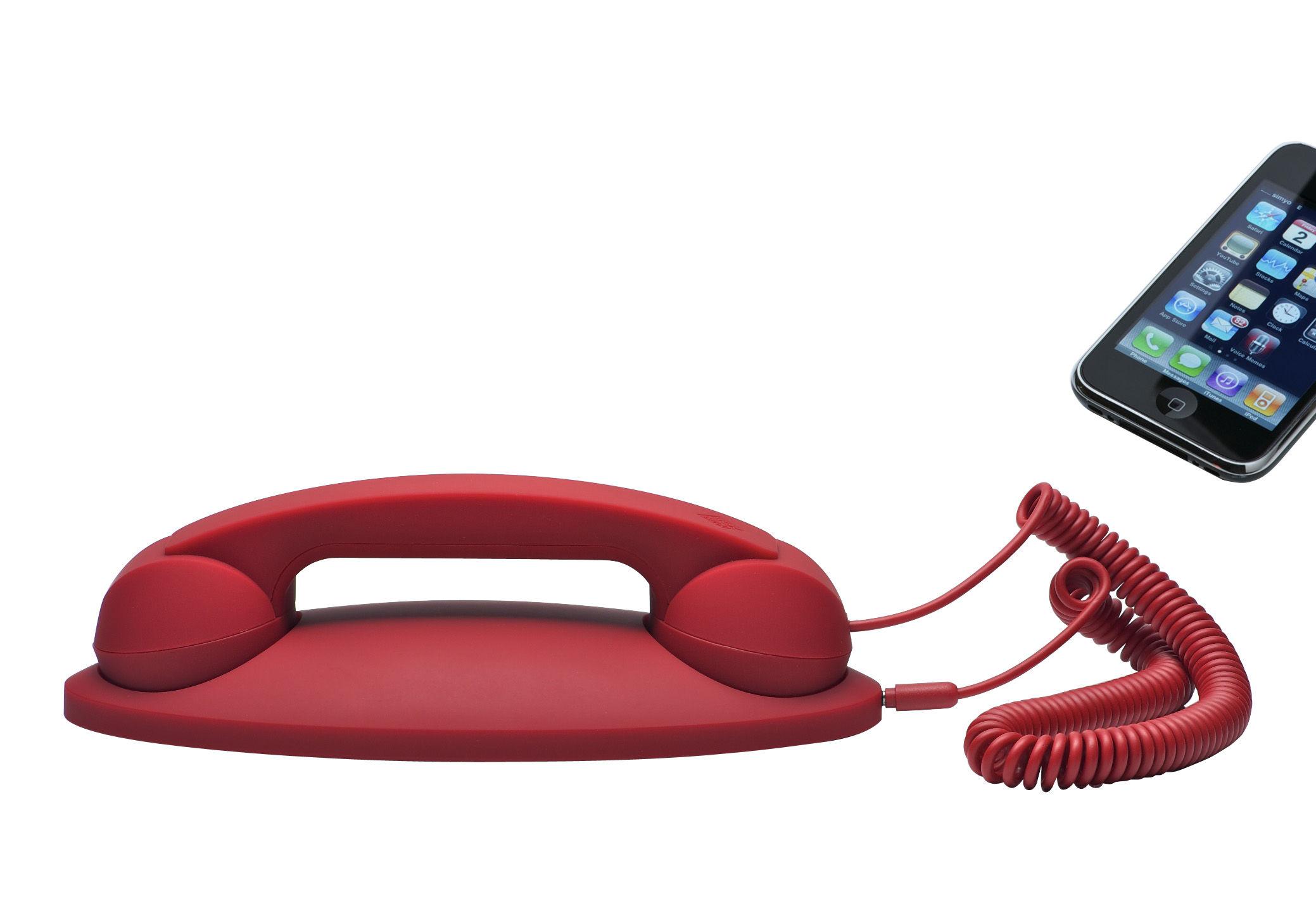 combin t l phonique pop phone avec socle pour iphone ipad smartphone rouge native union. Black Bedroom Furniture Sets. Home Design Ideas
