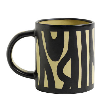 Mug Wood / Peint à la main - Hay jaune en céramique