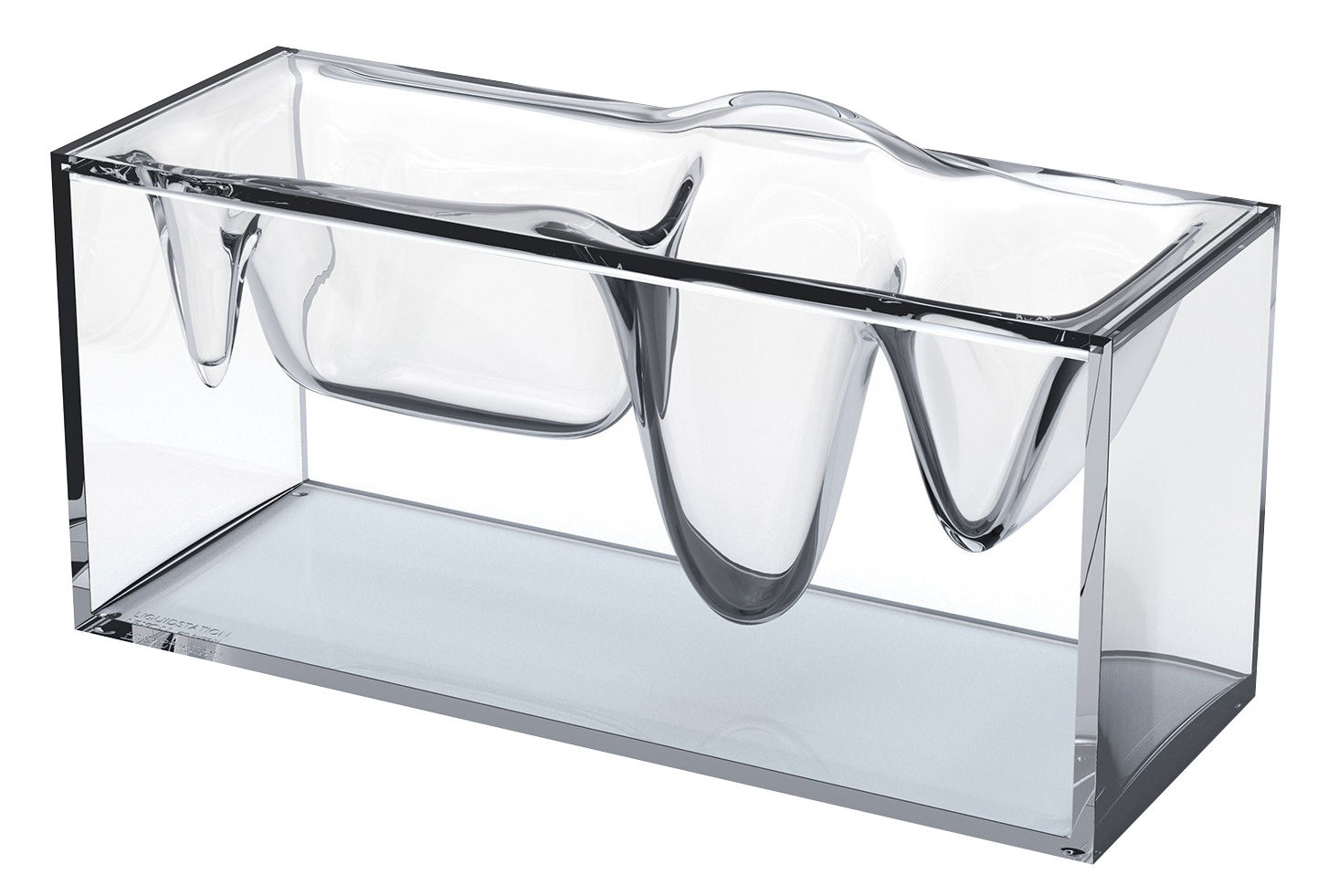 liquid station schreibtisch organizer von eugeni quitllet transparent by lexon made in design. Black Bedroom Furniture Sets. Home Design Ideas