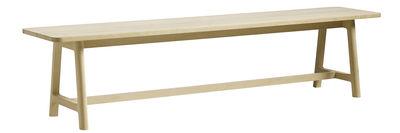 Banc Frame L 200 cm Bois Hay chêne naturel en bois