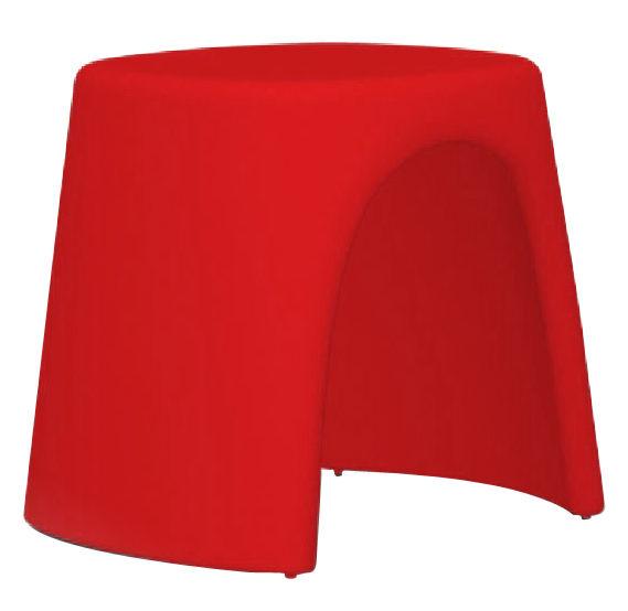 tabouret empilable am lie plastique rouge slide. Black Bedroom Furniture Sets. Home Design Ideas