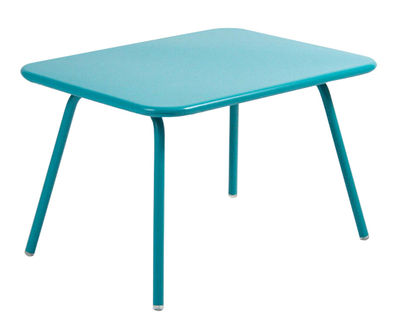 Life Style - Luxembourg Kid Children table by Fermob - Turquoise - Lacquered steel