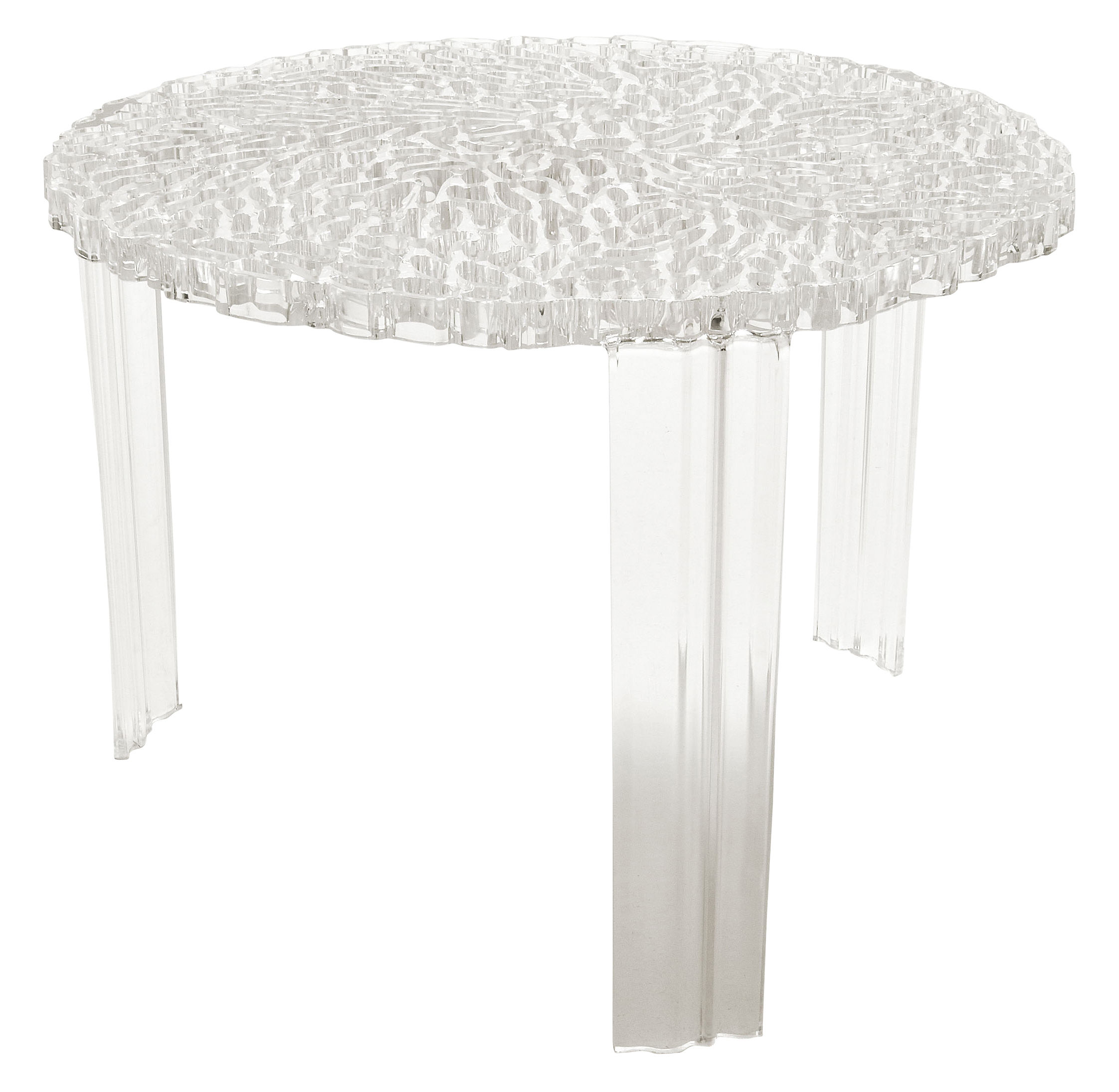 T Table Medio Coffee Table H 36 Cm Cristal By Kartell