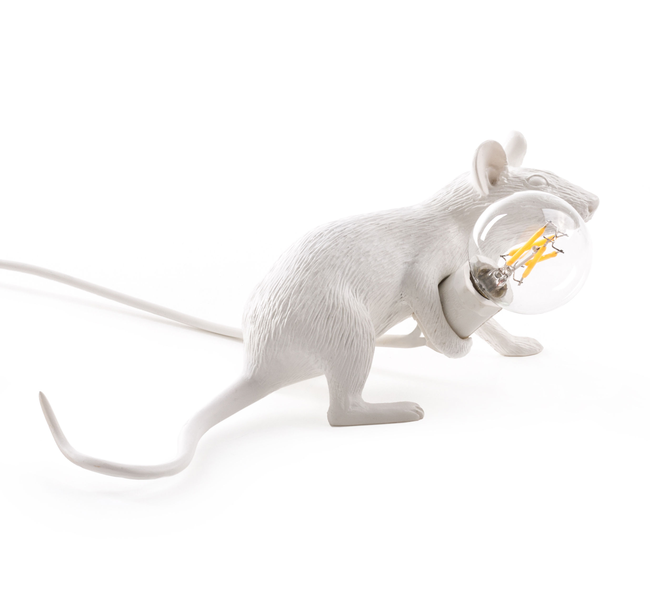Mouse Lie Down #3 Table Lamp   / Mouse Lying Down Mouse Lying Down / White  By Seletti
