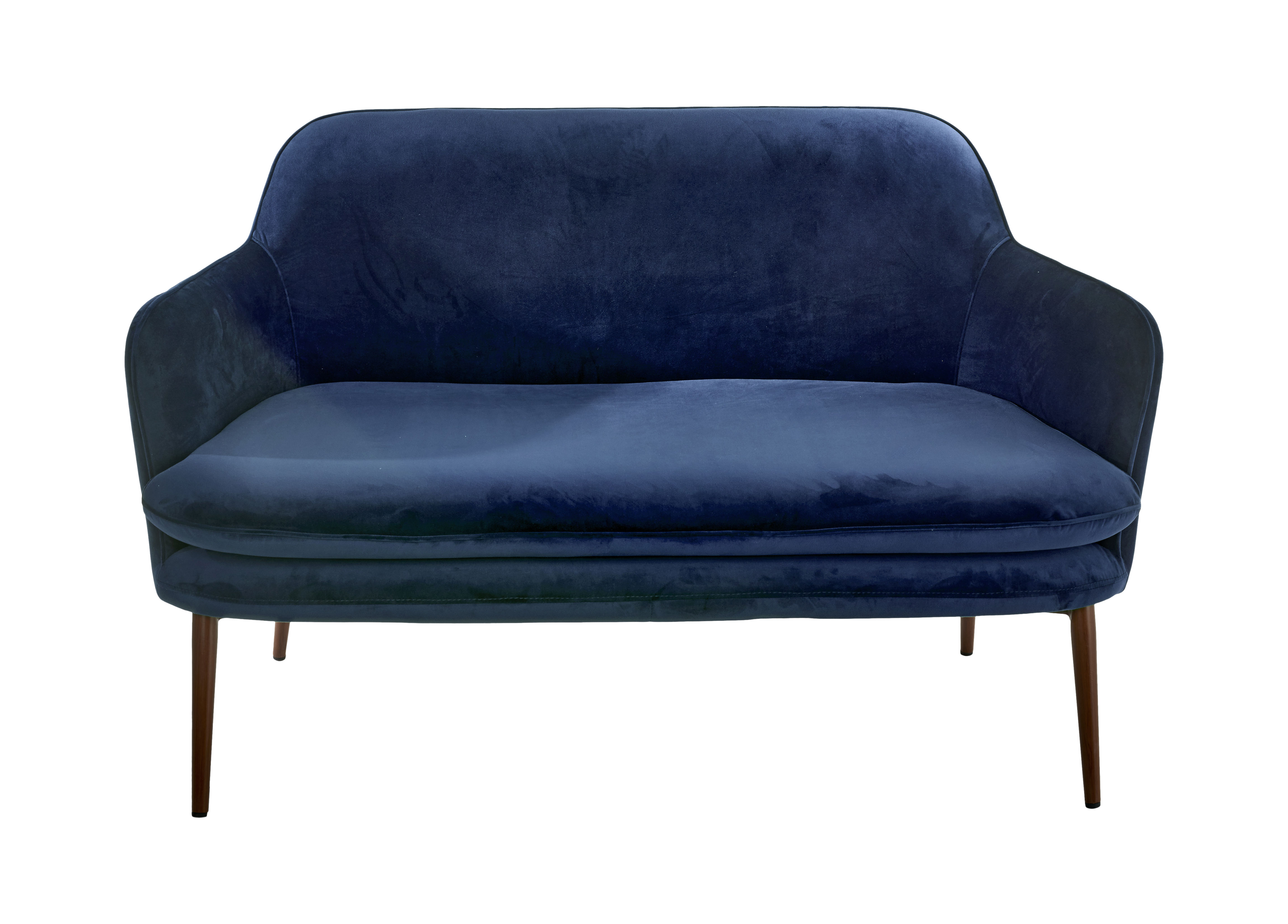 Charmy Straight sofa L 128 cm Blue velvet by Pols Potten