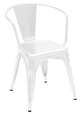 A56 Sessel lackierter Stahl - Tolix - Weiß