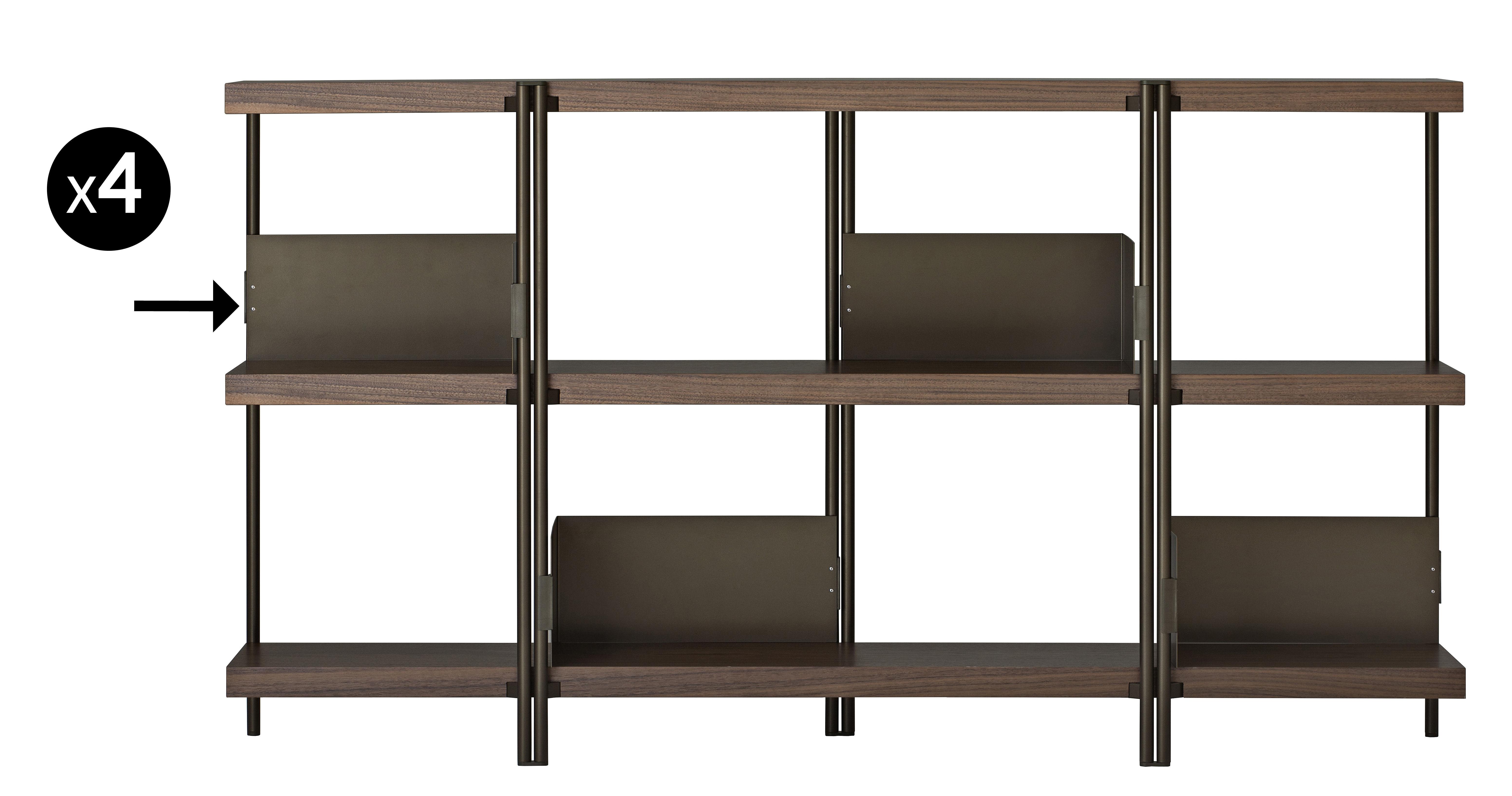 serre livres pour biblioth que zigzag lot de 4 bronze driade made in design. Black Bedroom Furniture Sets. Home Design Ideas