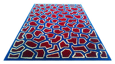 Tapis France / By Nathalie du Pasquier - 200 x 300 cm - La Chance bleu,rouge en tissu
