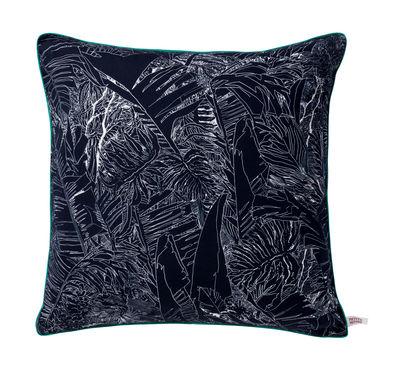 Déco - Coussins - Coussin Jungle / 50 x 50 cm - Petite Friture - Jungle / Noir - Coton, Satin de coton