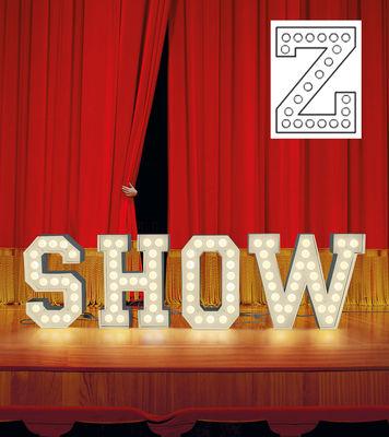 Foto Lampada da pavimento Vegaz - /Alfabeto luminoso Lettera Z - H 60 cm di Seletti - Bianco - Metallo