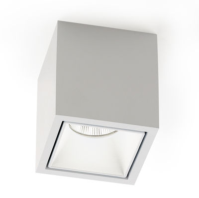 Plafonnier boxy led blanc delta light for Luminaire exterieur plafonnier