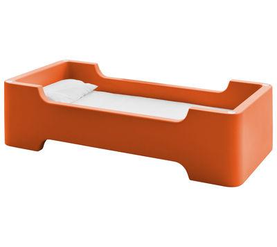Lit enfant Bunky /Module 1 place 81 x 171 cm - Magis Collection Me Too orange foncé en matière plastique