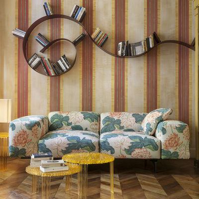 Largo Sofa 2 Sitze / L 226 cm - Kartell - Orange,Dunkelgrün