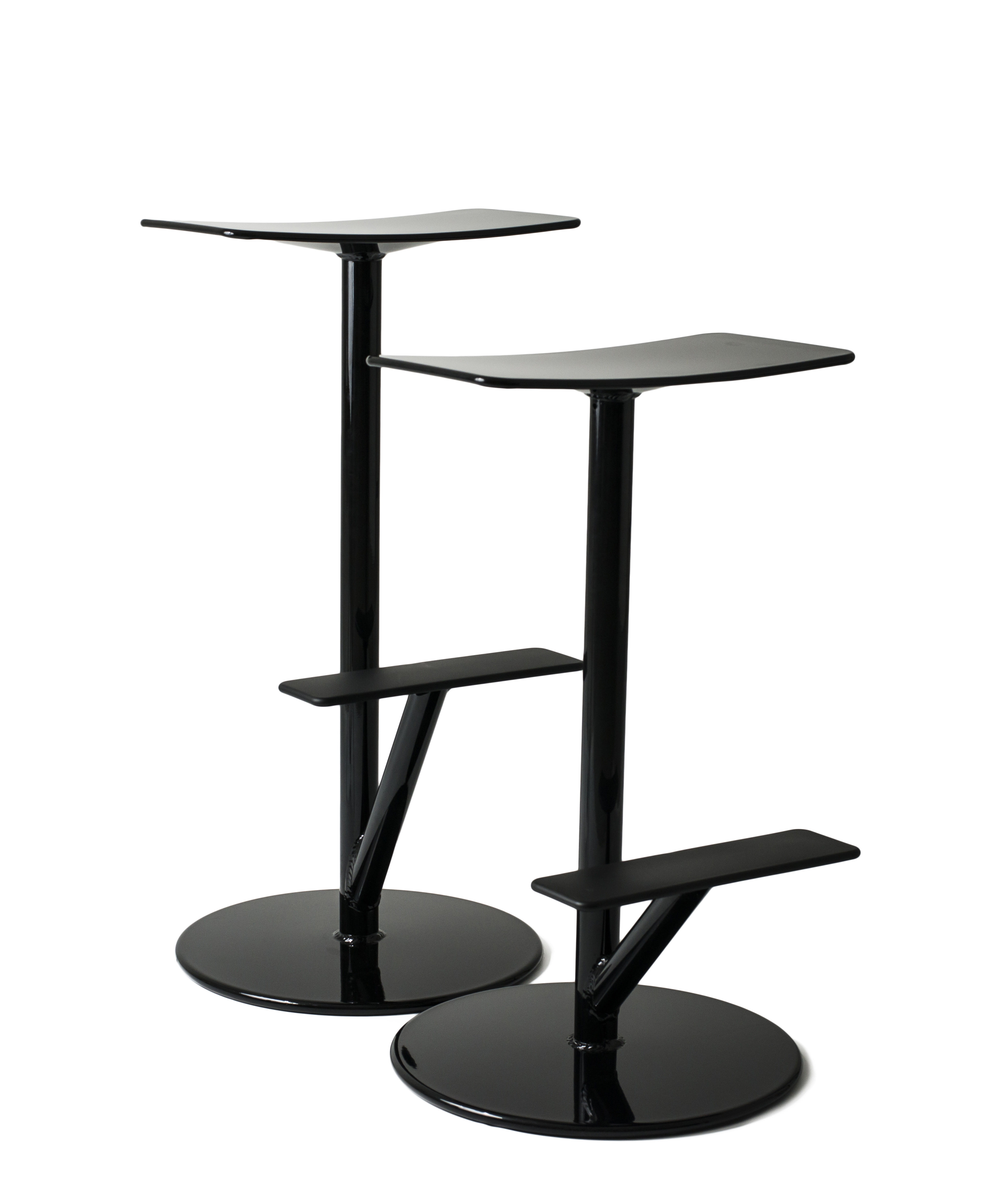 tabouret haut sequoia m tal h 65 cm noir mat magis. Black Bedroom Furniture Sets. Home Design Ideas