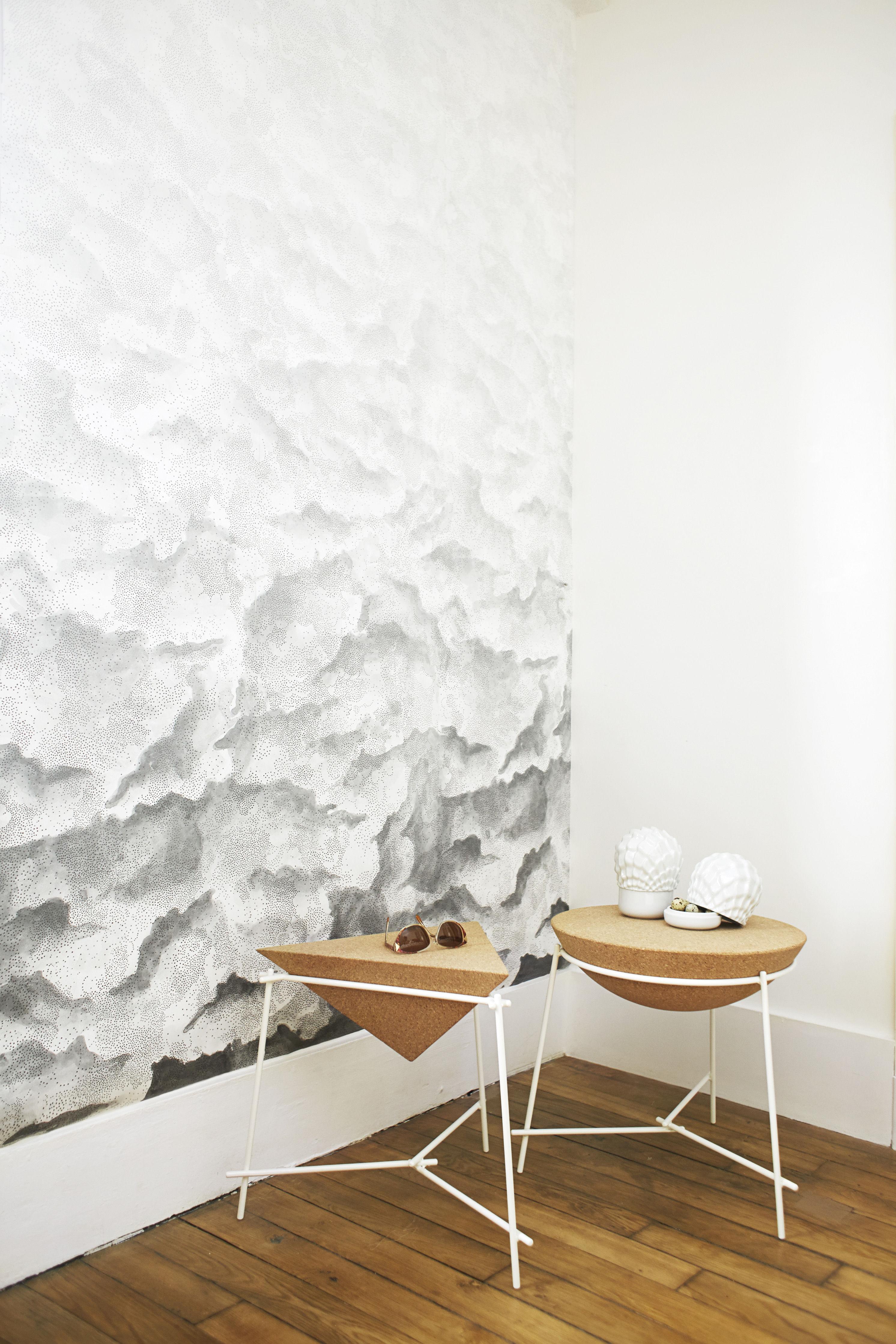 papier peint variation 1 1 rouleau larg 48 cm variation 1 blanc gris petite friture. Black Bedroom Furniture Sets. Home Design Ideas